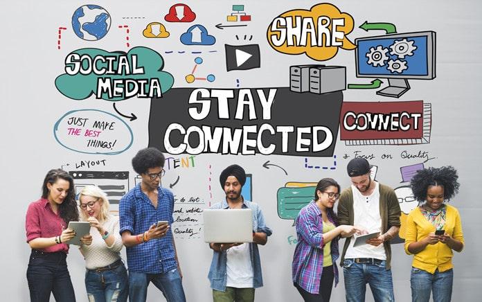 promoting school supply drive on social media