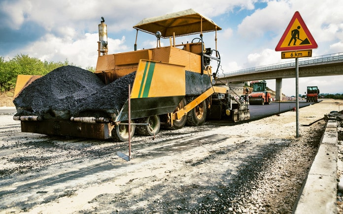 ensure safety in road construction site